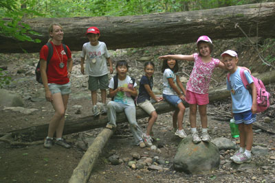 image of group at creek